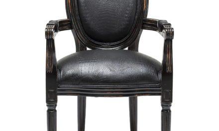KARE DESIGN Spisebordsstol m. armlæn, Gastro Louis Black