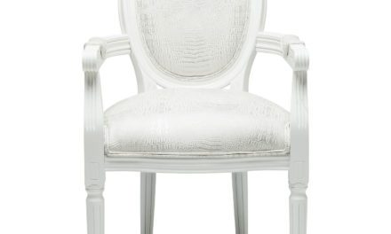 KARE DESIGN Spisebordsstol m. armlæn, Gastro Louis White