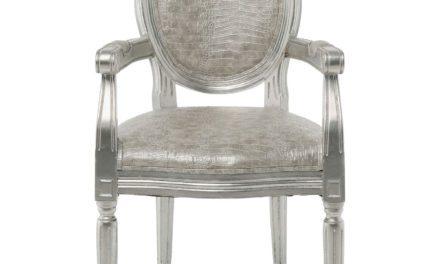 KARE DESIGN Spisebordsstol m. armlæn, Gastro Louis silver