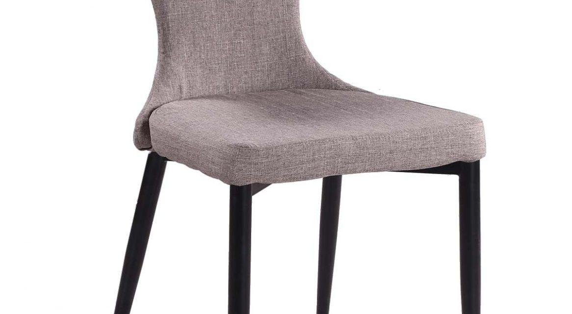 Freja spisebordsstol, lysegrå/sort