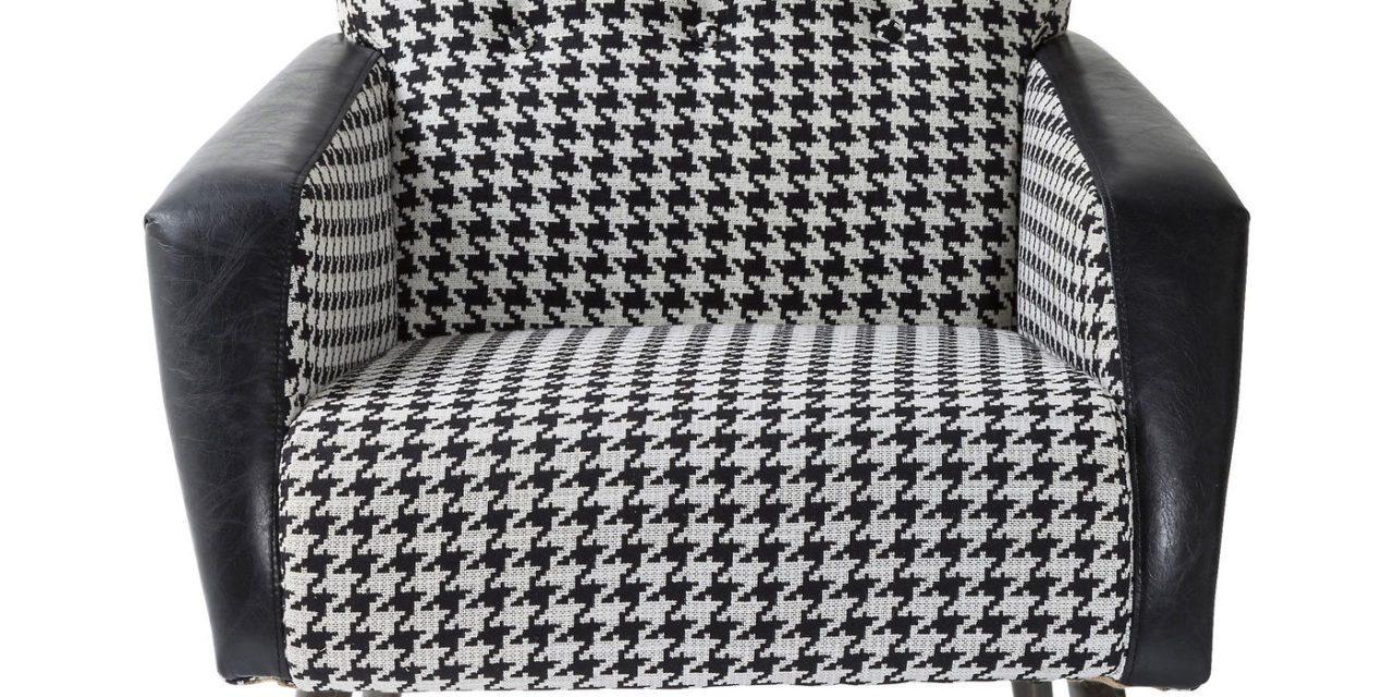 KARE DESIGN Sessel black and white hvilestol