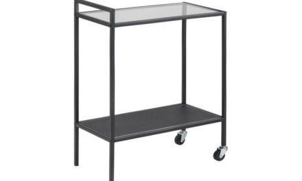 Seaford rullebord – stål med glasplade