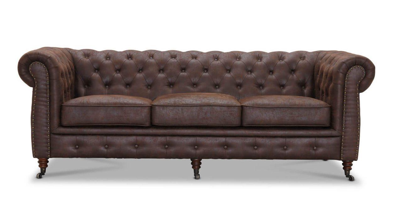 Cambridge 3 pers. sofa – brun