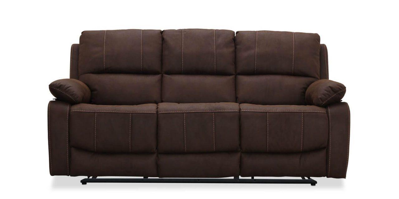 Texas brun 3 pers. sofa