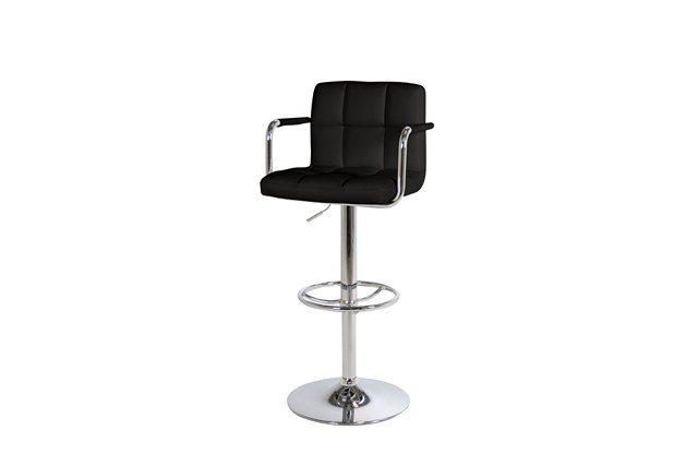 Puffin barstol – Sort læder PU, metalstel
