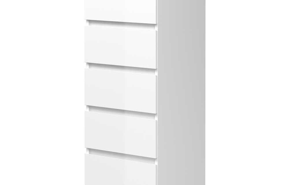Mary Kommode, hvid højglans
