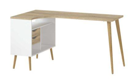 Delta Skrivebord, hvid eg struktur