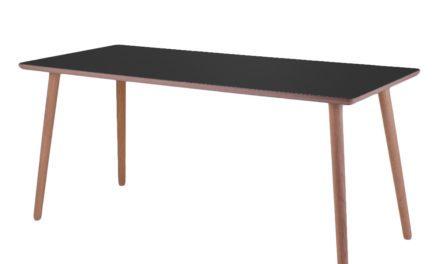 BY TIKA Diamond black Skrivebord – højtrykslaminat
