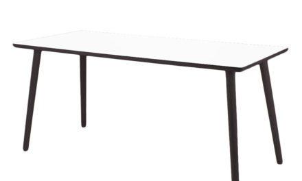 BY TIKA Crystal white Skrivebord – højtrykslaminat