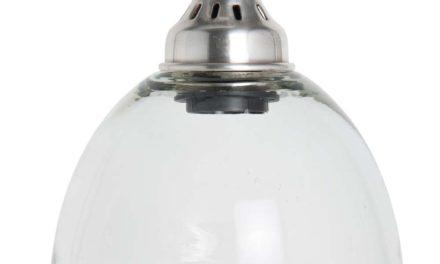 IB LAURSEN Hængelampe Soho klar sort plastik ledning