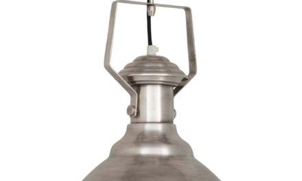 IB LAURSEN Hængelampe metal New York stofledning
