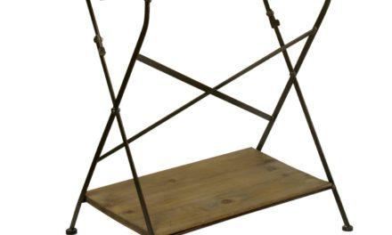 IB LAURSEN Træklapbord m/hylde + jernstel