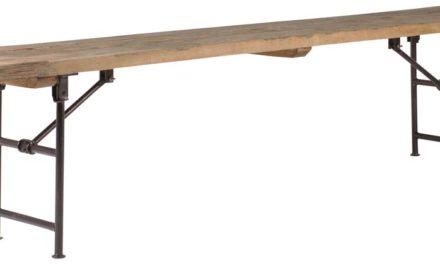 IB LAURSEN Bænk træ m/metalstel unika