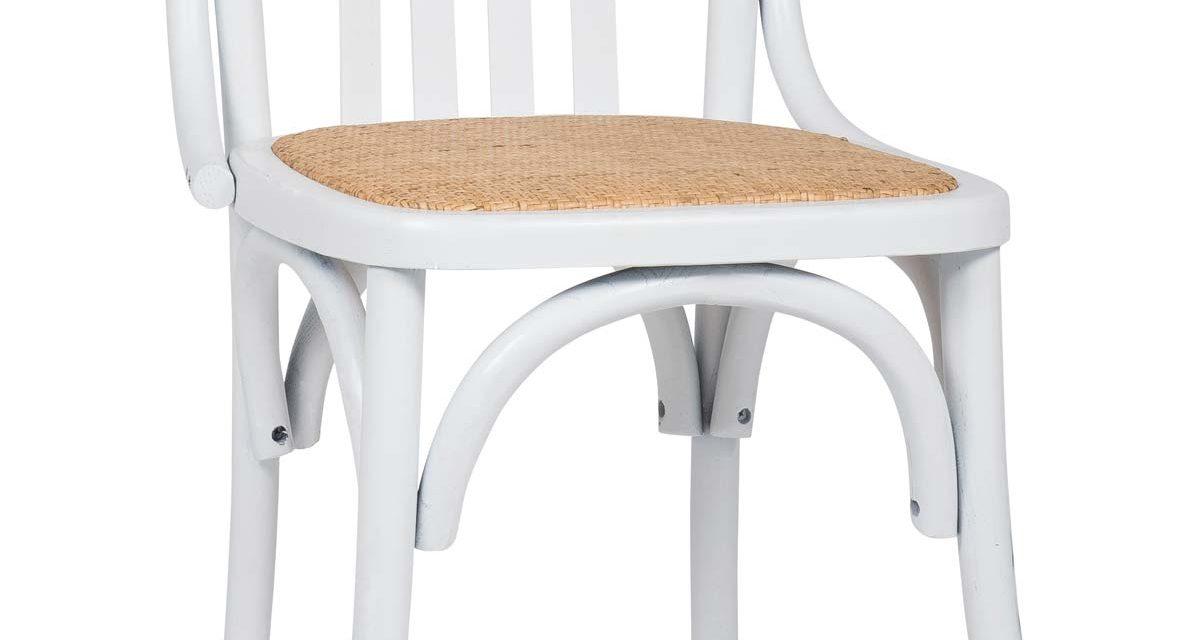 Elmetræ hvid Marais stol fra Ib Laursen til boligen