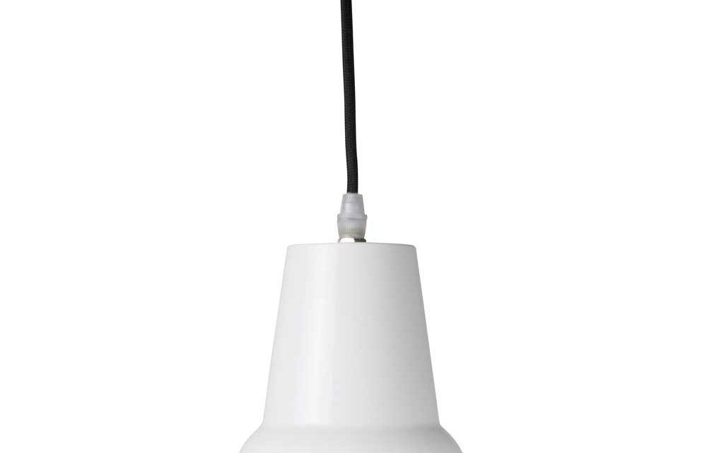 IB LAURSEN Hængelampe metal Brooklyn snoet sort tekstilledning