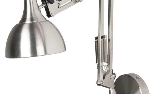IB LAURSEN Væglampe arkitektmodel sort/hvid tekstil ledning