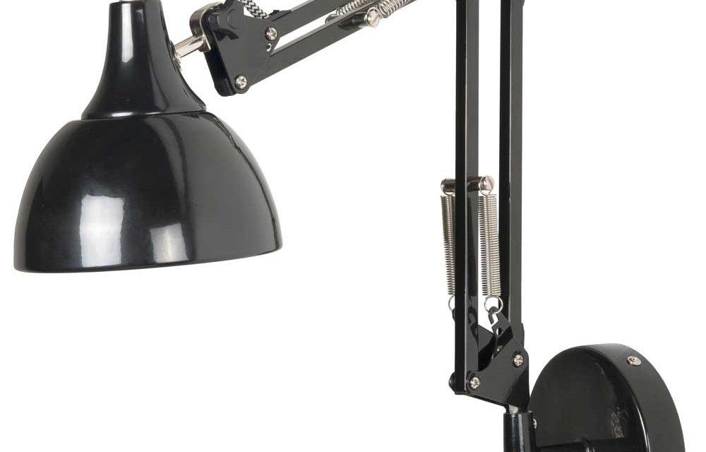 IB LAURSEN arkitektlampe til væg – sort/hvid m. tekstil ledning
