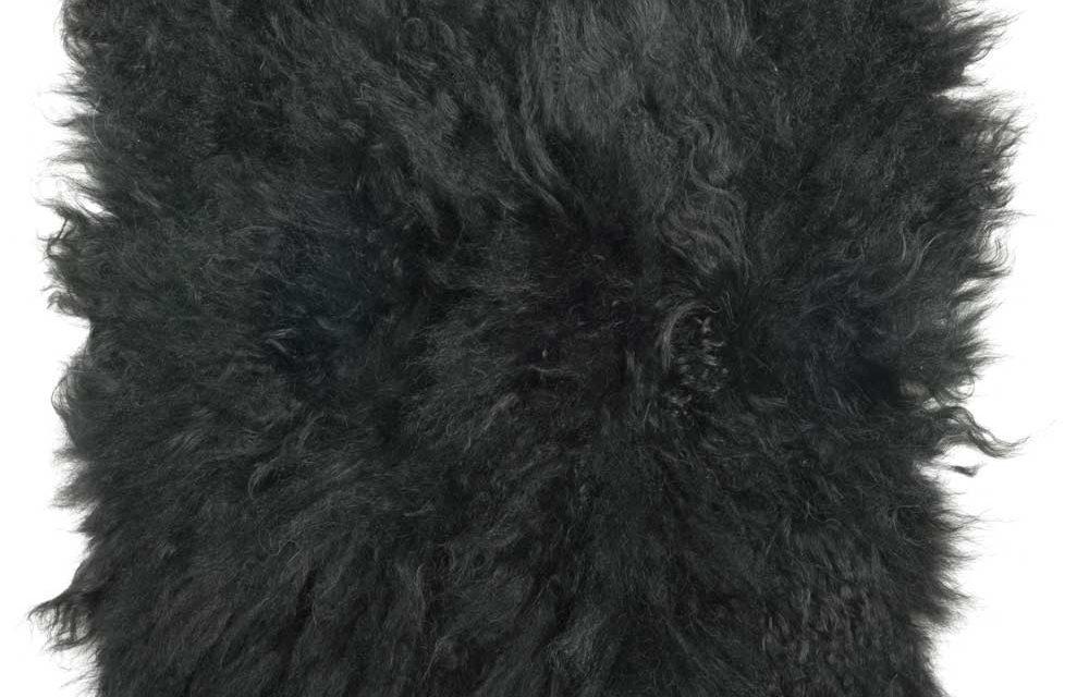 IB LAURSEN Tibetansk sædeskind sammensyet af skindrester