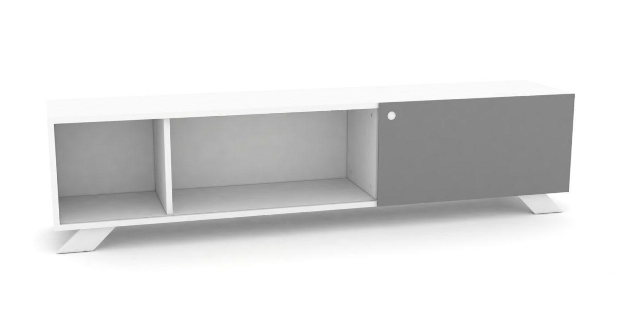 K2 Depot – 1800-1 Skråben Hvid Monokrome låger