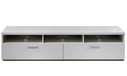 Napoli TV-bord – Hvidt træ eller sort ask, m. 2 skuffer Hvid