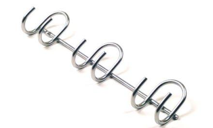 DecoSlide knageliste i flot blank metal