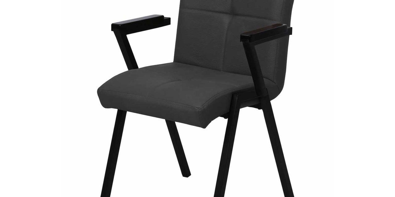 PREFORM, HOUSE OF SANDER Heimdal spisebordsstol – sort PU læder, m. armlæn
