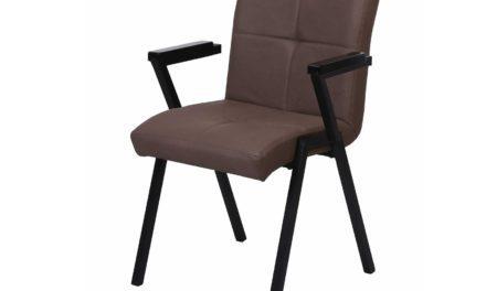 PREFORM, HOUSE OF SANDER Heimdal spisebordsstol – brunt PU læder, m. armlæn