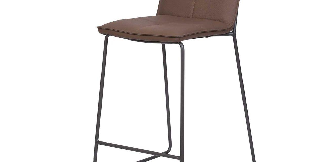 PREFORM, HOUSE OF SANDER Sif barstol – brun imiteret læder