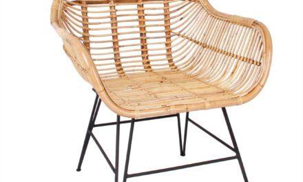 Mura spisebordsstol, natur rattan