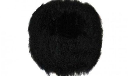 Tibetan skindhynde, rund, sort