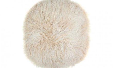Tibetan skindhynde, rund, hvid