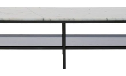 Accent marmor TV-bord – sort/hvid