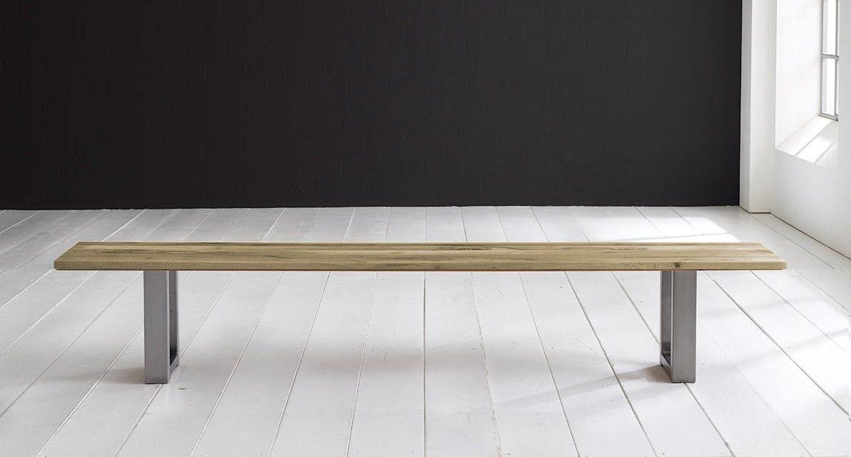 Concept 4 You Spisebordsbænk – Manhattan ben 180 x 40 cm 3 cm 05 = sand