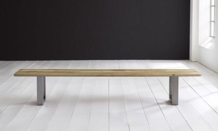 Concept 4 You Spisebordsbænk – Manhattan ben 200 x 40 cm 3 cm 05 = sand