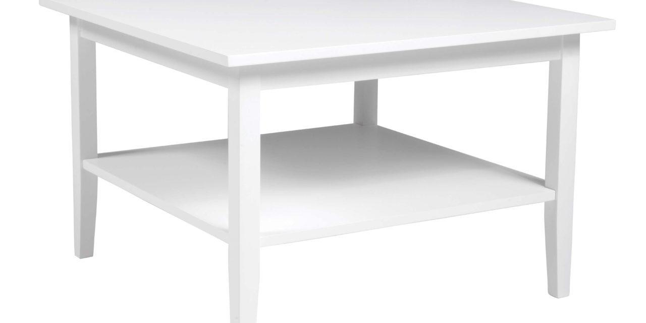 Ebba sofabord – hvidlakeret træ, kvadratisk (80×80)
