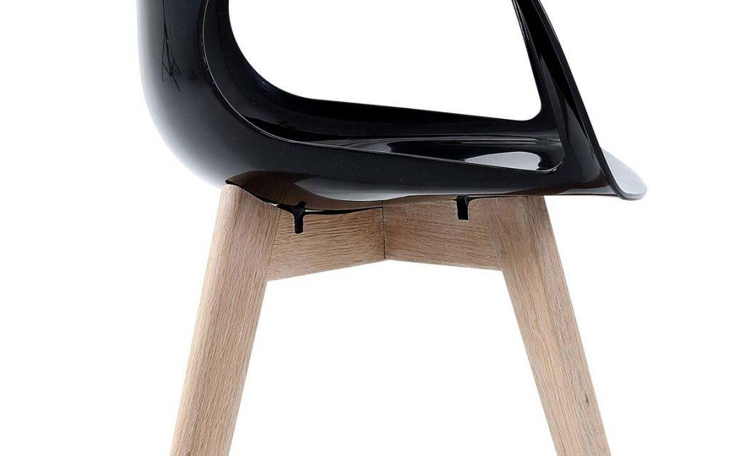 Tomcat spisebordsstol, sort/eg