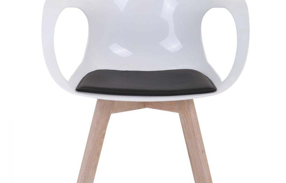 Tomcat spisebordsstol, hvid/eg