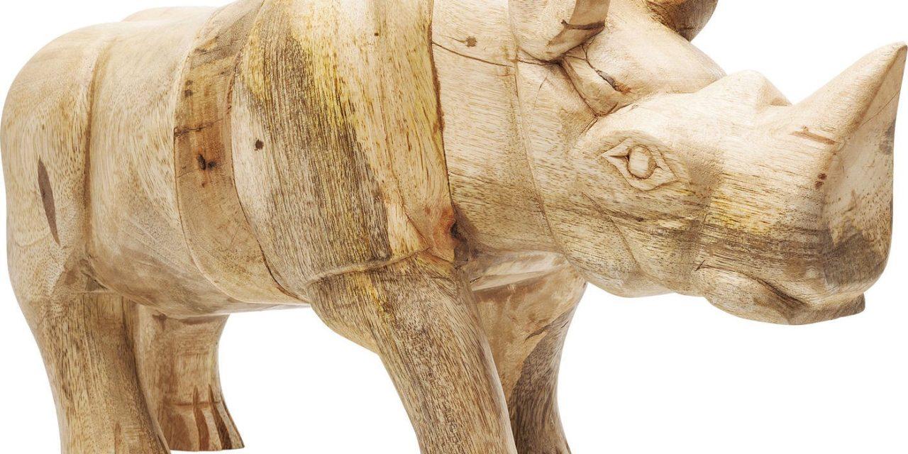 Dekoration Figur Rhino Træ