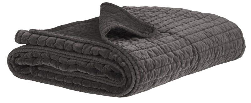 IB LAURSEN Quilt sengetæppe – Antracit velour