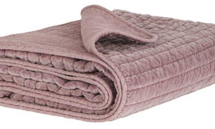 IB LAURSEN Quilt sengetæppe – Malvafarvet velour