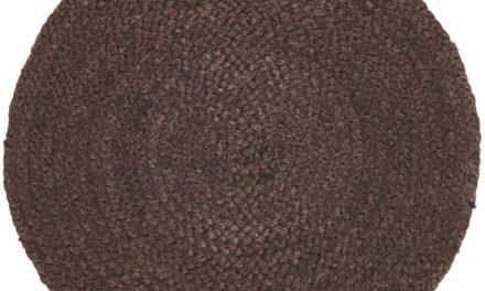 IB LAURSEN Dækkeserviet mørkebrun jute
