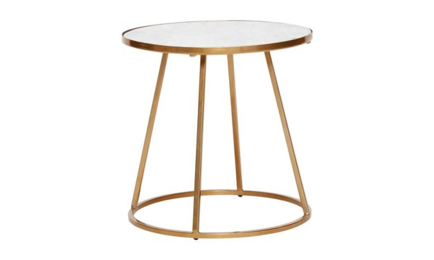 Hübsch bord i flot marmor og metal