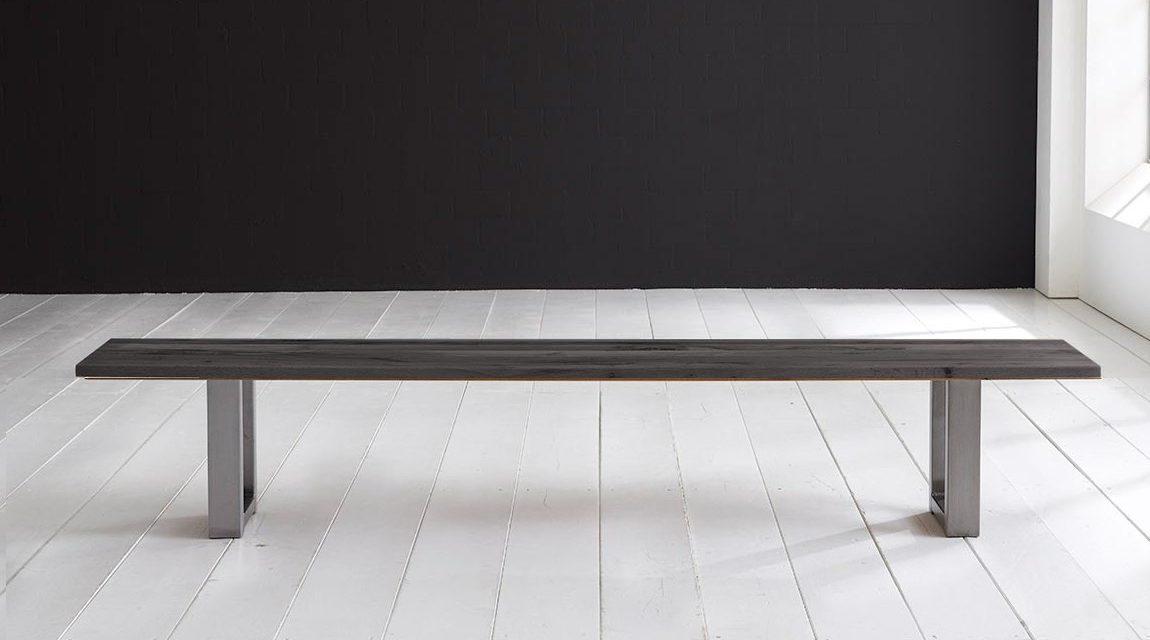 Concept 4 You Spisebordsbænk – Manhattan ben 200 x 40 cm 3 cm 07 = mocca black