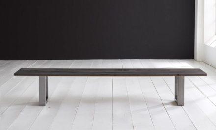 Concept 4 You Spisebordsbænk – Manhattan ben 260 x 40 cm 3 cm 07 = mocca black