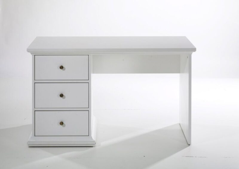 Paris skrivebord med 3 skuffer hvid