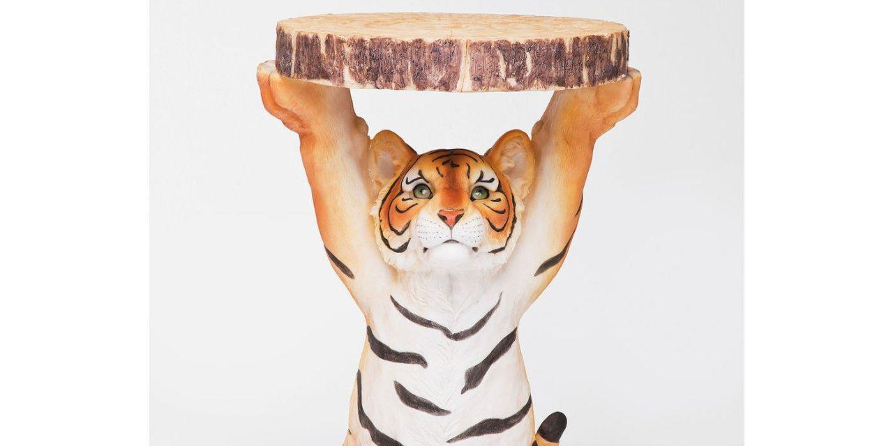 KARE DESIGN Sidebord, Animal Tiger Ø35cm