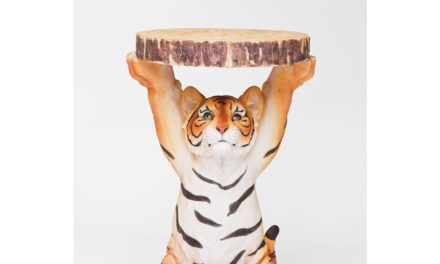 KARE DESIGN Sidebord, Animal Tiger Ø35cm
