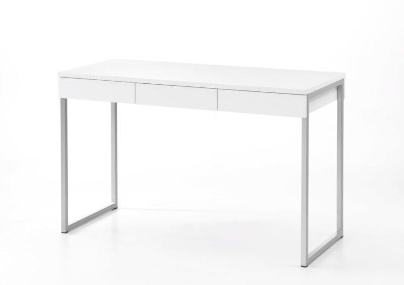 Function Plus skrivebord – Hvidt træ, m. 3 skuffer