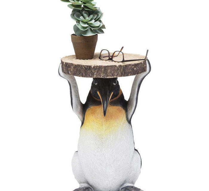 KARE DESIGN Sidebord, Animal Mr. Penguin Ø33cm