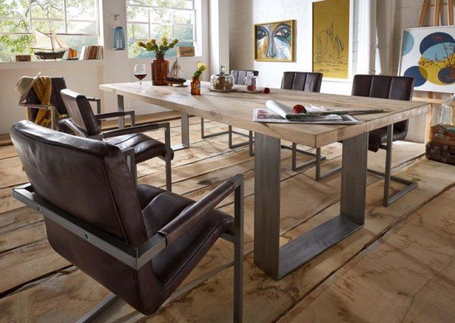 BODAHL Texas spisebord – desert egetræ, plankebord 240 x 100 cm